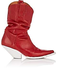 R 13 Women's Slouchy Leather Cowboy Boots - Red