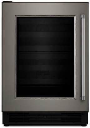 "KitchenAid KUBL204EPA 24"" Beverage Center with Two Temperature-Controlled Zones- Panel Ready"