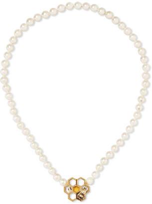Delfina Delettrez 9 And 18-karat Gold Multi-stone Necklace