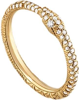 Ouroboros 18ct Yellow Gold 0.35ct Diamond Ring