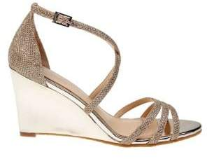 Badgley Mischka Hunt Metallic Wedge Sandals