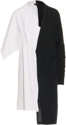 Ji Oh Half Sweater Shirt Dress