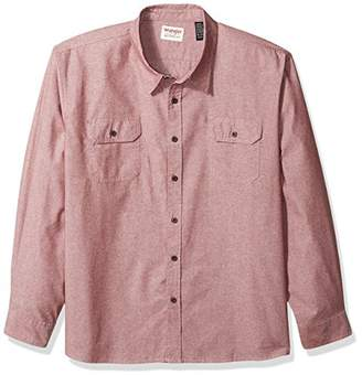 Wrangler Men's Big and Tall Authentics Long Sleeve Classic Woven Shirt