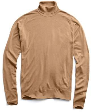 John Smedley Sweaters Easy Fit Roll Neck in Camel