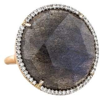 Irene Neuwirth 18K Labradorite & Diamond Cocktail Ring