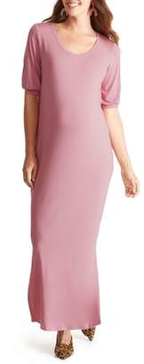 Ingrid & Isabel R) Split Sleeve Knit Maternity Maxi Dress