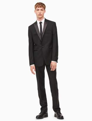 Calvin Klein x-fit ultra slim fit peak lapel tuxedo