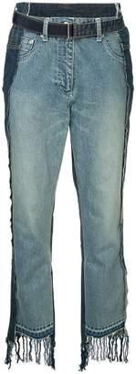 Sacai patchwork boyfriend jeans