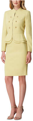 Tahari ASL Double Breasted Blazer Skirt Suit