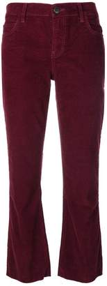 Current/Elliott cropped corduroy trousers
