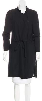 Ann Demeulemeester Wool Knee-Length Coat