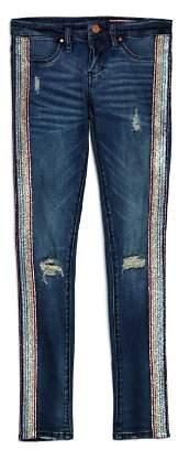 Blank NYC BLANKNYC Girls' Glitter-Striped Skinny Jeans - Big Kid