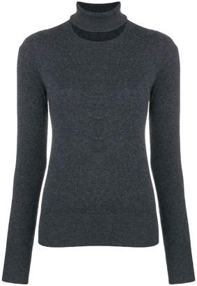Chalayan split neck sweater