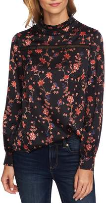 CeCe Bohemian Garden Crochet Detail Blouse