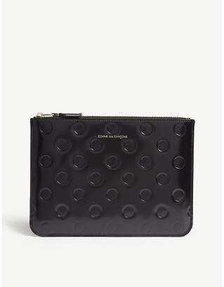 Comme des Garcons Polka-dot patent leather clutch