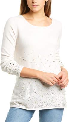 InCashmere Beaded Cashmere Tunic