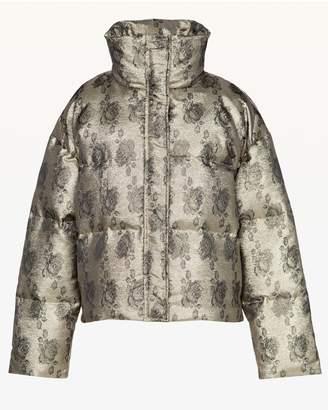 Juicy Couture Metallic Rose Jacquard Puffer Jacket