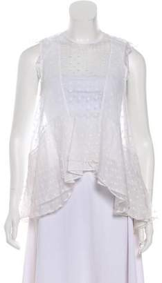 Isabel Marant Sheer Embroidered Top