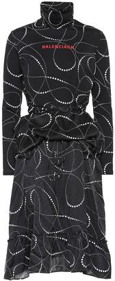 Balenciaga Printed jersey dress