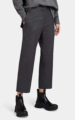 Jil Sander Women's Wool Flannel Crop Slim Pants - Dark Gray
