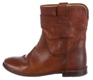 Frye Paige Leather Ankle Boots