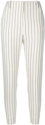 LES COYOTES DE PARIS high waist pinstripe cropped trousers