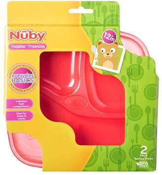 Nuby 91152 Section Plates (2 per pack) 12m+ Toddler Training