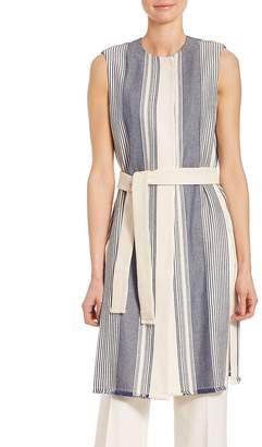 Lafayette 148 New York Women's Calico Awning-Stripe Fergie Vest