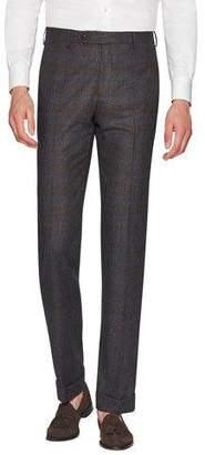 Zanella Men's Parker Dream Tweed Flat-Front Trousers