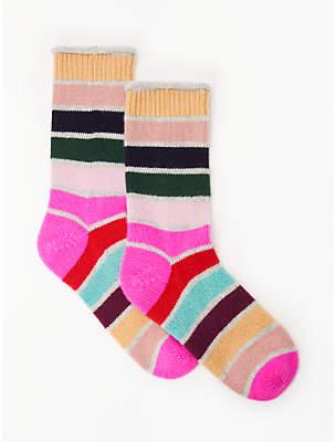 Boden Stripe Cashmere Ankle Socks, Multi Stripe