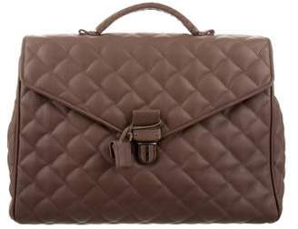 Bottega Veneta Quilted Leather Briefcase