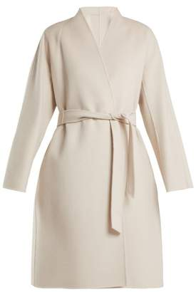 Max Mara Gimmy Belted Wool Coat - Womens - Cream