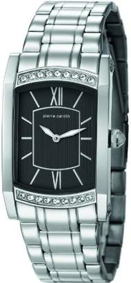 Pierre Cardin Pont Des Arts Women's Quartz Watch with Black Dial Analogue Display and Silver Stainless Steel Bracelet PC105772F04