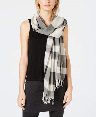 Eileen Fisher Wool Plaid Scarf, Created for Macy's