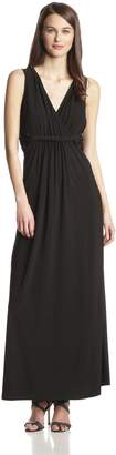NY Collection Women's Sleeveless Surplice Maxi Dress with Twist Details At Waist
