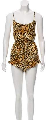 Charlotte Olympia x Agent Provocateur Sleeveless Printed Romper