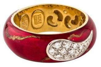 S.O.H.O New York 18K Diamond Enamel Ring