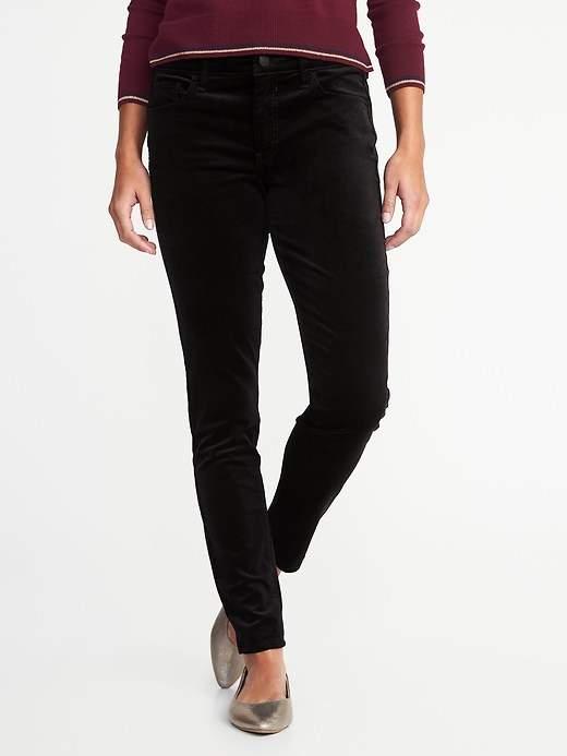 Mid-Rise Rockstar Super Skinny Velvet Pants