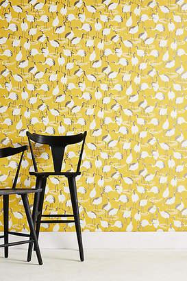 DwellStudio Cranes Wallpaper