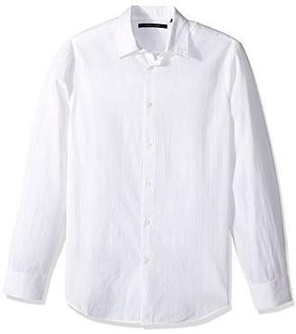 Perry Ellis Men's Long Sleeve Seersucker Shirt