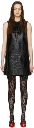 Gucci Black Croc Short Dress