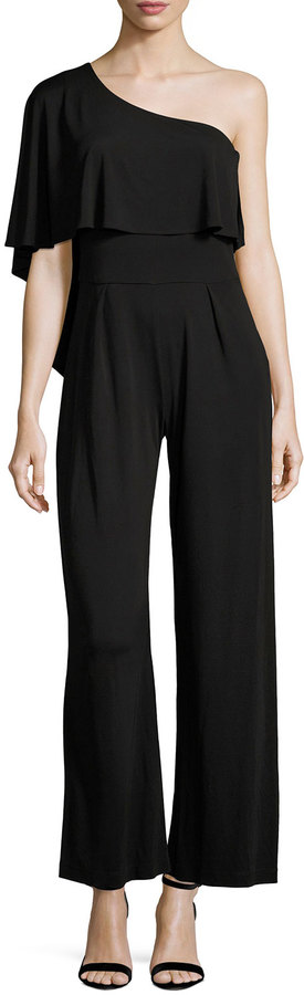Trina Turk Leigha Asymmetric Popover Jumpsuit, Black