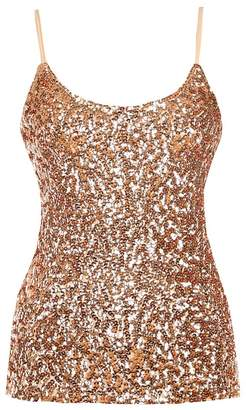 Blingstory Sexy Sleeveless Flashy Sequin All Over Front Spaghetti Strap Tank Top