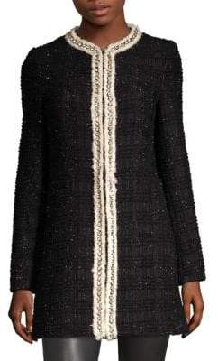 Alice + Olivia Andreas Tweed Jacket