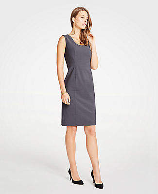 Ann Taylor The U-Neck Sheath Dress in Tropical Wool