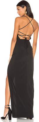Donna Mizani Cross Back Square Neck Maxi Dress