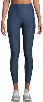 Onzie High-Rise Mesh Track Performance Leggings