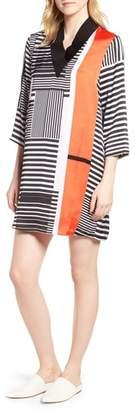 Kenneth Cole New York Mix Stripe V-Neck Shift Dress