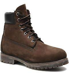 Timberland Men's 6in premium boot Rounded toe Ankle Boots in Brown