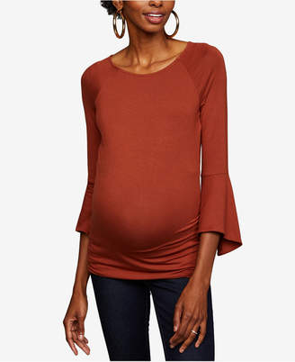 A Pea in the Pod Maternity Bell-Sleeve Top